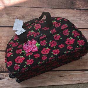 Handbags - Betsey Johnson covered roses rolling duffle bag